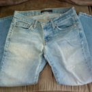 JUNIORS LIGHT WASH BLUE CAPRI JEANS SIZE 2 AMERICAN EAGLE AE