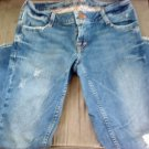 AMERICAN EAGLE JUNIORS MED WASH DENIM CAPRI JEANS 2 EUC