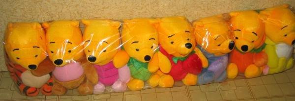 Set of 8 Cute pooh bears (Brand New)