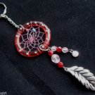 Red Dream Catcher Keychain with Fortune Love Meaning