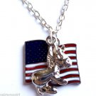 Democrat Necklace Patriotic American Flag USA Donkey