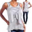 Gray Tank top shirt Size S M L