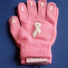 Breast Cancer Awareness Gloves Stretch Pink Ribbon