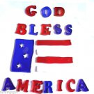 God Bless America Gel Window Clings Flag Patriotic