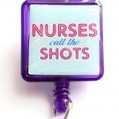Nurses call the Shots Retractable ID Holder