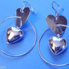 Heart hoop Fashion Earrings silver
