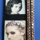 Soft Elastic Brown headband rhinestones