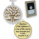 TREE OF LIFE Necklace Gift Boxed silver gold plated
