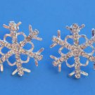 Snowflake Earrings Silver crystals Christmas Winter