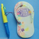 Flip Flop Magetic Note Pad Pen set Magnet