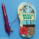 Flip Flop Magetic Note Pad Pen set Magnet Beach Babe