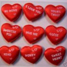 9 Love Tokens Puffy Hearts Valentines Day peel stick