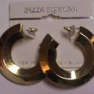 Gold toned hoops Fashion Earrings