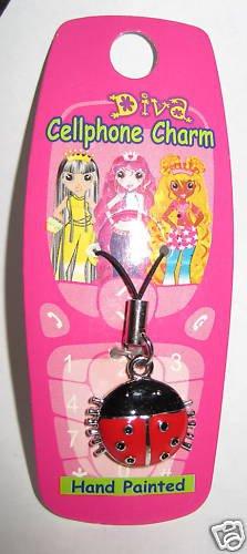 Ladybug Cell phone Charm Strap