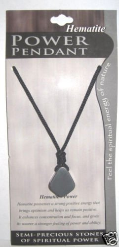 Semi Precious Stone Necklace Hematite - Power