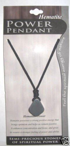 Semi Precious Stone Necklace Hematite - Power