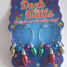 Deck the Halls Christmas Lights Bells Earrings