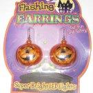Flashing Earrings Haloween Pumpkins