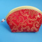 Red Chinese Fortune Cookie coin Purse Pouch