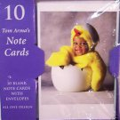 Tom Arma's Blank Note cards 10 Baby dressed chick