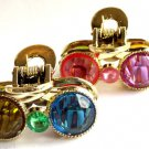 Multi Color gemstone gold Jaw Clips Claw set 2