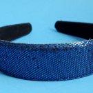 """Blue Sequins Glitter headband 1"""" Wide"""