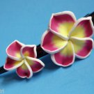 Fuschia frangipani Plumeria Flower Claw Hair Clip 5&quot;