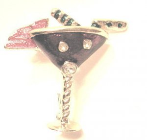 Purple Martini Pin crystals bartender tropical drink