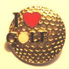 I Love Golf Pin Brooch