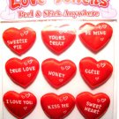 9 Love Tokens Puffy Heart Stickers peel stick