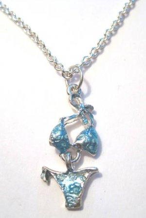 Blue Bikini Necklace luau summertime girly