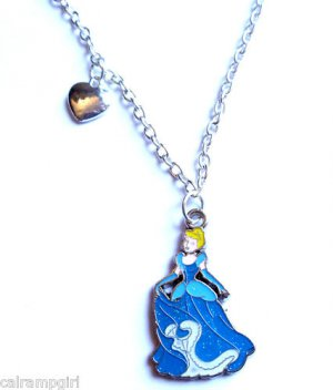 Cinderella Necklace silver heart Princess