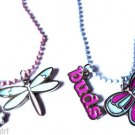 Set of 2 Best Friend Necklaces Butterfly dragonfly