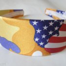 Yellow Satin Camouflage Headband 2""