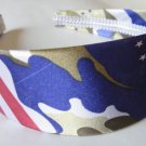 "Blue Satin Camouflage Headband 2"""