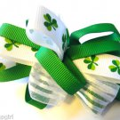 St Patricks Day Hair clip Barrette Bows Shamrocks