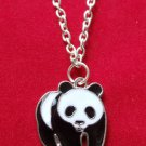 Black and White Panda Bear Necklace
