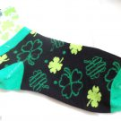 St Patricks Day Ankle Socks size 9-11 Green Shamrocks