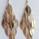 """4"""" long Gold Leaf Earrings"""
