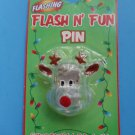 Rudolph Reindeer Flashing Pin Brooch Christmas