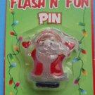 Christmas Flashing Pin Brooch Santa Claus