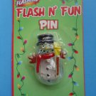 Snowman Flashing Pin Brooch Christmas