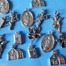 Lot 40 Assorted Religious Charms angels church bible