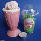Strawberry Cream Ice Cream Parlour Candle Melts Ceramic Tart Burner