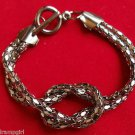 Antique Silver Knot Mesh Bracelet
