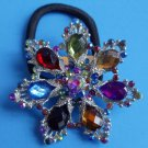 Multi Color Snowflake Ponytail Holder / Brooch Crystal