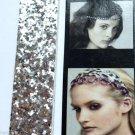 Soft Elastic Silver Glitter headband Sparkle Glitz