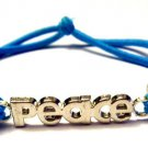 Expressions Stretch bracelet blue peace
