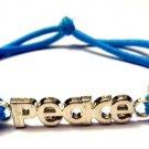 Expressions Stretch bracelet blue peace