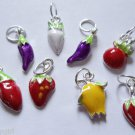 Lot 40 Assorted Fruit Charms vegtables food